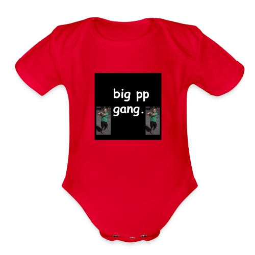 big pp gang - Organic Short Sleeve Baby Bodysuit
