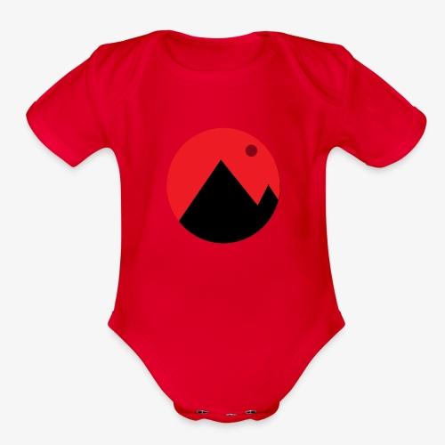 Mountain and the moon - Organic Short Sleeve Baby Bodysuit