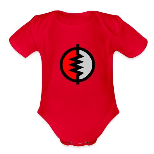 sacred logo - Organic Short Sleeve Baby Bodysuit