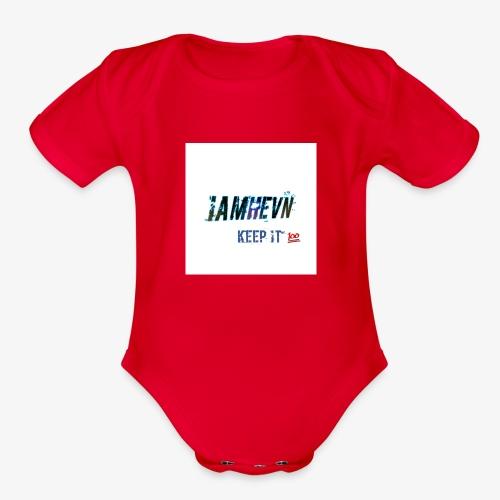 Iamhevn keep it 100 - Organic Short Sleeve Baby Bodysuit