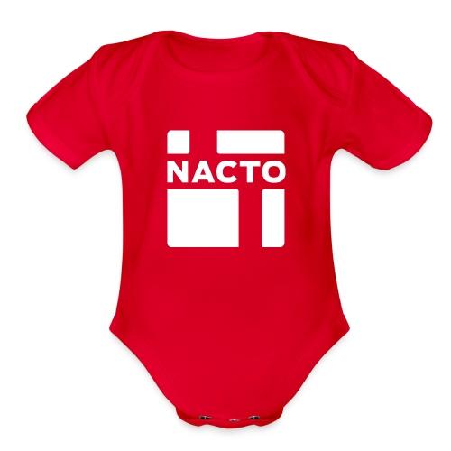 NACTO_logo_white - Organic Short Sleeve Baby Bodysuit
