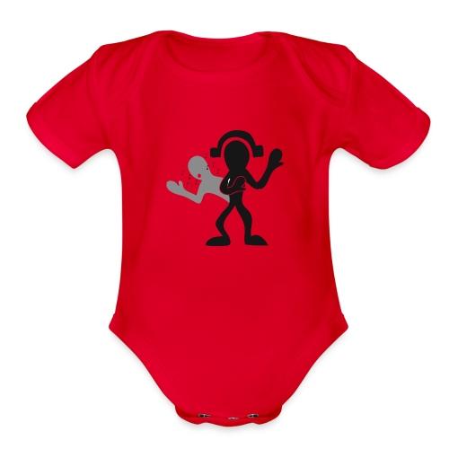 music for soul - Organic Short Sleeve Baby Bodysuit