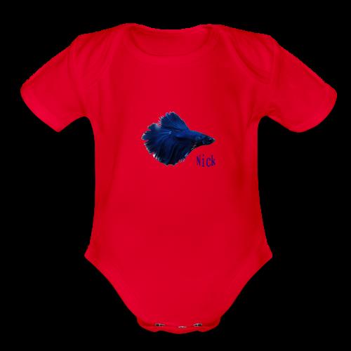 Nick Fish - Organic Short Sleeve Baby Bodysuit