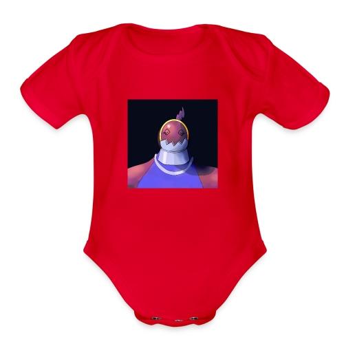 Defender Heartless Girl - Organic Short Sleeve Baby Bodysuit