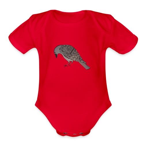 art deco raven - Organic Short Sleeve Baby Bodysuit