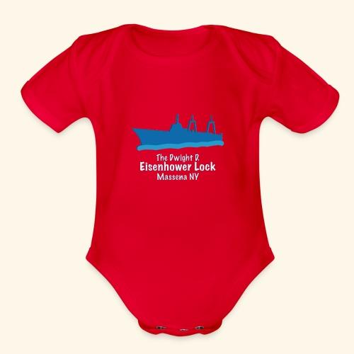 Eisenhower Lock Blue - Organic Short Sleeve Baby Bodysuit