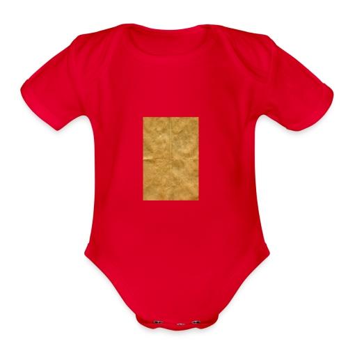 golden block rock - Organic Short Sleeve Baby Bodysuit