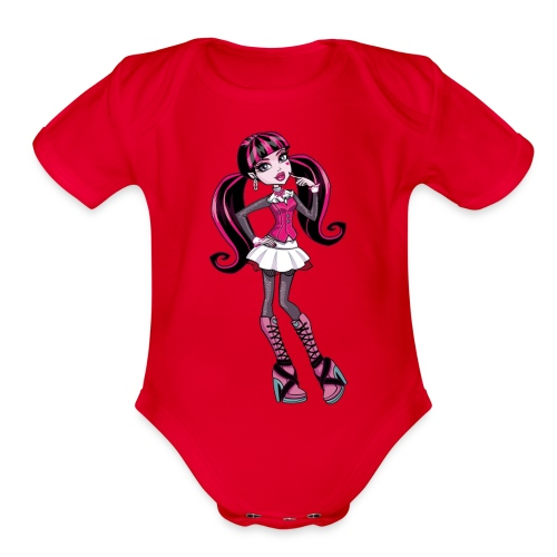 amazing draculaura shirt - Organic Short Sleeve Baby Bodysuit