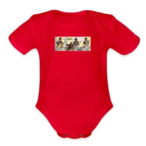The Grinn:) - Organic Short Sleeve Baby Bodysuit