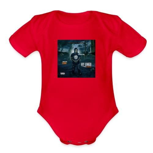 PLUGTALK SOSA MY LINGO MIXTAPE - Organic Short Sleeve Baby Bodysuit