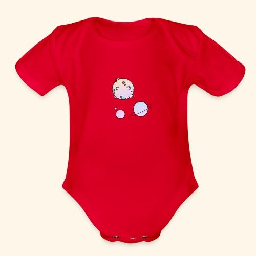 Tiny Space - Organic Short Sleeve Baby Bodysuit