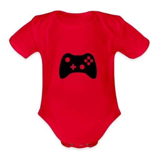 xbox t-shrits - Organic Short Sleeve Baby Bodysuit