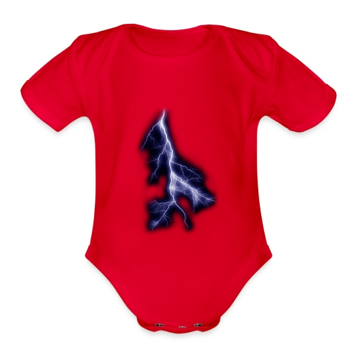lightning bolt - Organic Short Sleeve Baby Bodysuit