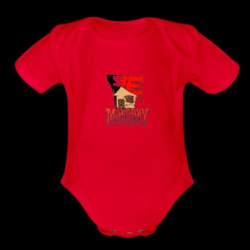 YE Monopoly Sauce Logo 2019 - Organic Short Sleeve Baby Bodysuit