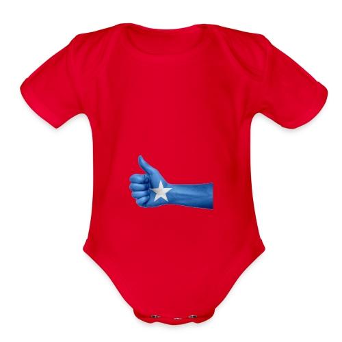 somalia - thumps Up - Organic Short Sleeve Baby Bodysuit