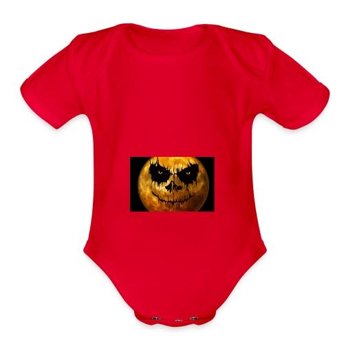 moon for halloween - Organic Short Sleeve Baby Bodysuit