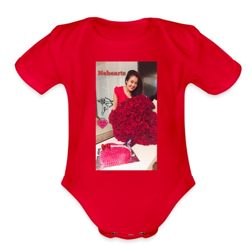 Nehearts - Organic Short Sleeve Baby Bodysuit