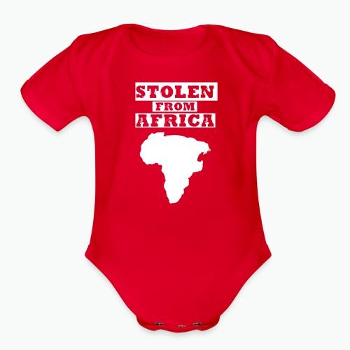 SFA LOGO WHITE - Organic Short Sleeve Baby Bodysuit