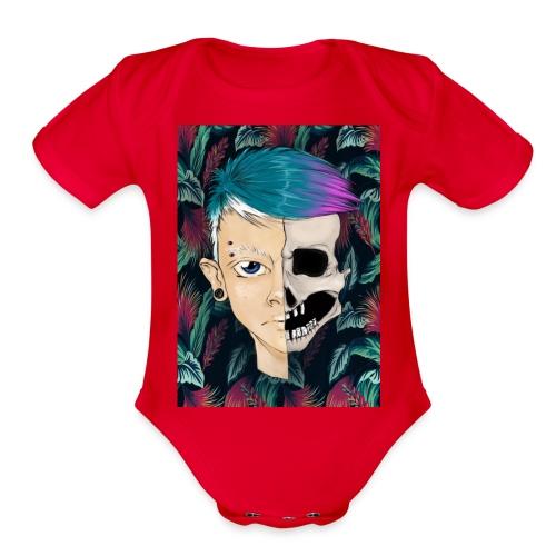 SkullBoy - Organic Short Sleeve Baby Bodysuit