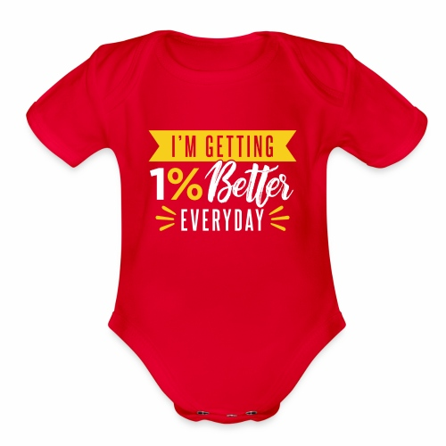 motivated to be better - Organic Short Sleeve Baby Bodysuit