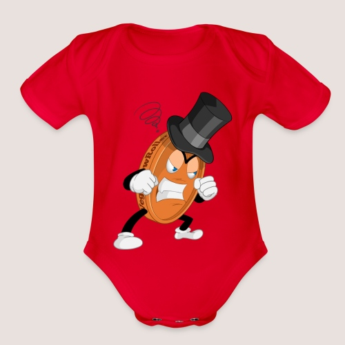 THE ANGRY PENNY - Organic Short Sleeve Baby Bodysuit