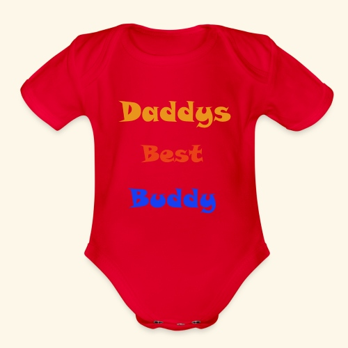 Dads buddy - Organic Short Sleeve Baby Bodysuit