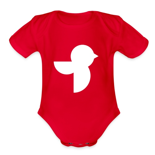 The White Sailea Logo - Organic Short Sleeve Baby Bodysuit