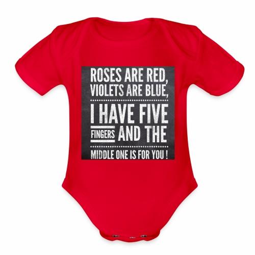 Typographic quoted tshirt - Organic Short Sleeve Baby Bodysuit