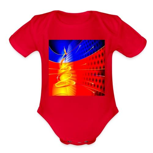 3472 Holiday Christmas 62 - Organic Short Sleeve Baby Bodysuit
