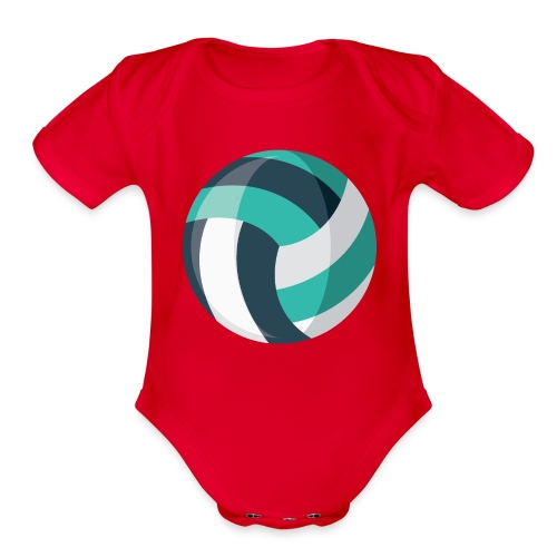 Volleyball - Organic Short Sleeve Baby Bodysuit