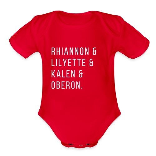 All The Characters - Organic Short Sleeve Baby Bodysuit