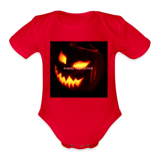 genius production - Organic Short Sleeve Baby Bodysuit