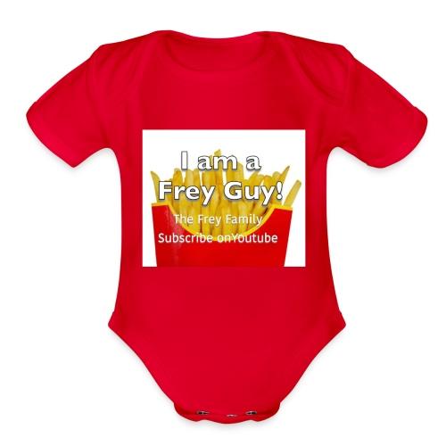 French Frey Shirt - Organic Short Sleeve Baby Bodysuit