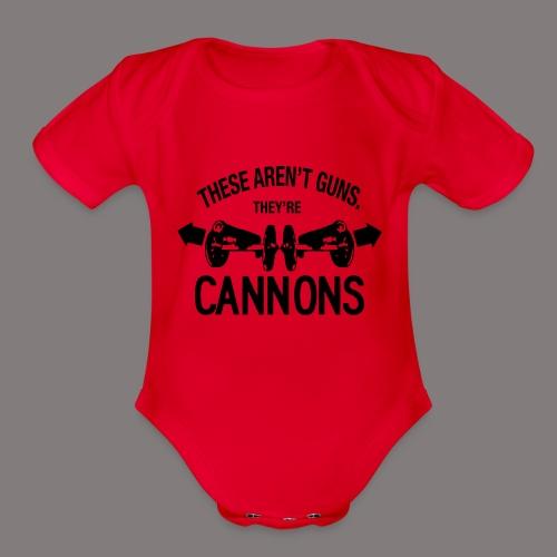 These Aren t Guns - Organic Short Sleeve Baby Bodysuit