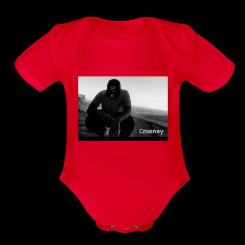 Cmoney merch - Organic Short Sleeve Baby Bodysuit