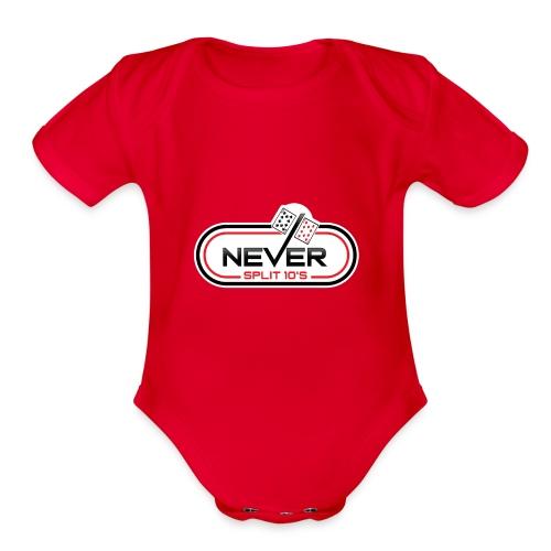 Never Split 10's Merchandise - Organic Short Sleeve Baby Bodysuit
