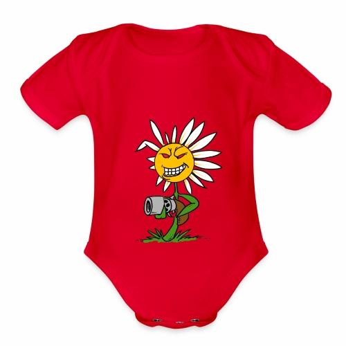 Killer Daisy - Organic Short Sleeve Baby Bodysuit