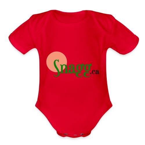 Snagg ca - Organic Short Sleeve Baby Bodysuit