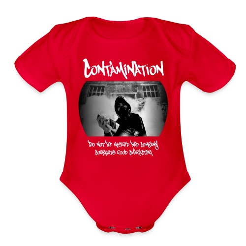 contamination front - Organic Short Sleeve Baby Bodysuit