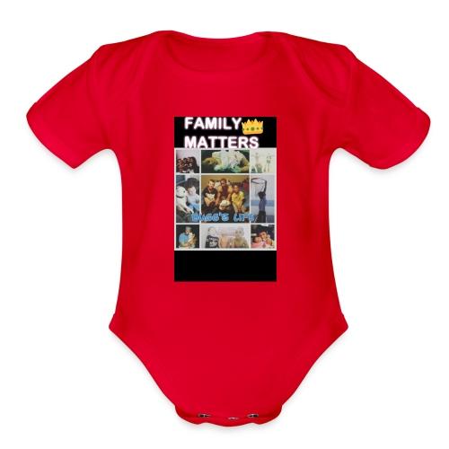 Family matter - Organic Short Sleeve Baby Bodysuit