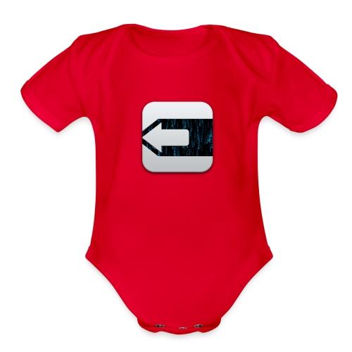 evasion jailbreak logo - Organic Short Sleeve Baby Bodysuit