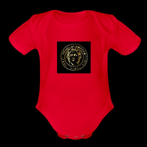 CAESAR GOLD1 - Organic Short Sleeve Baby Bodysuit