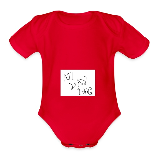 All Day Long - Organic Short Sleeve Baby Bodysuit
