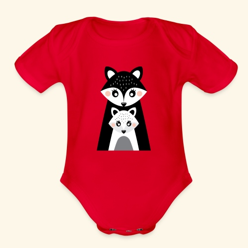 Mama and little fox - Organic Short Sleeve Baby Bodysuit