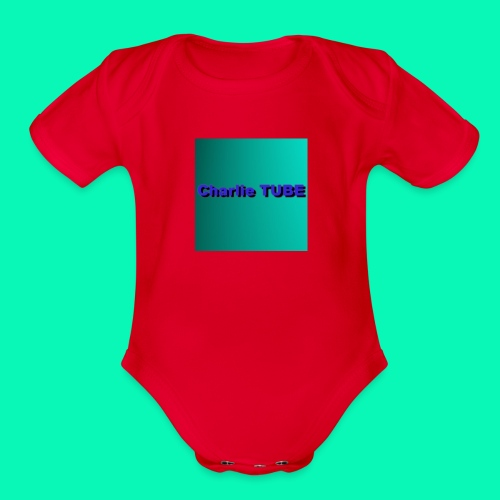 Charlie TUBE - Organic Short Sleeve Baby Bodysuit