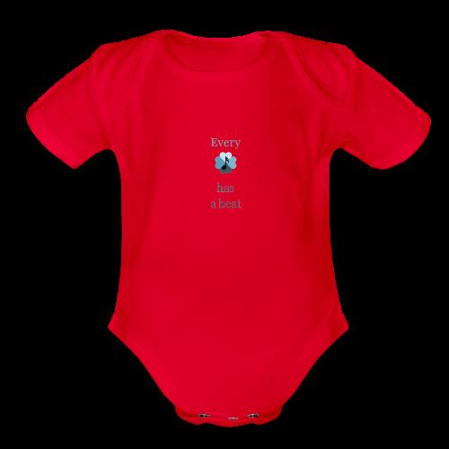 every heart has a beat - Organic Short Sleeve Baby Bodysuit
