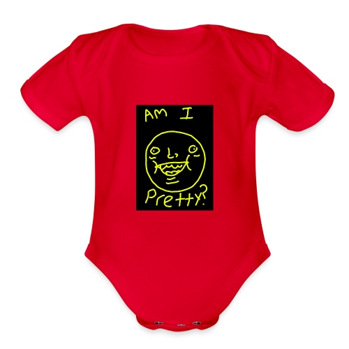 Am I pretty? - Organic Short Sleeve Baby Bodysuit
