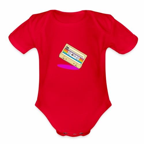 Cassette classic - Organic Short Sleeve Baby Bodysuit