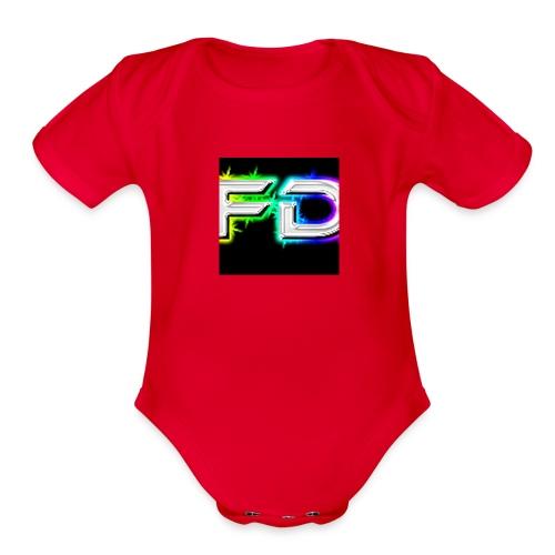 Fares destroyer official merchandise - Organic Short Sleeve Baby Bodysuit