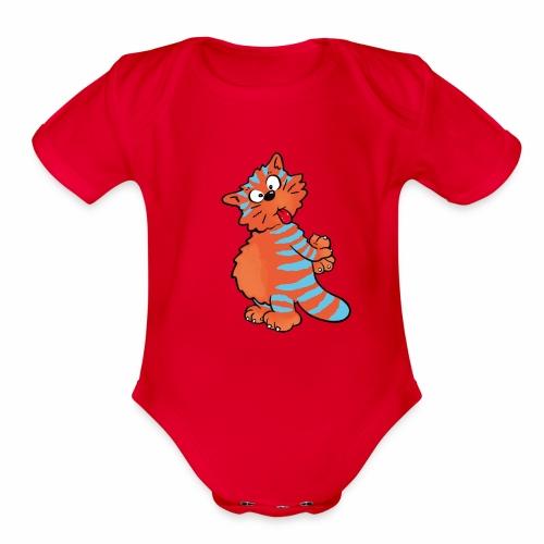Tiger Cat - Organic Short Sleeve Baby Bodysuit